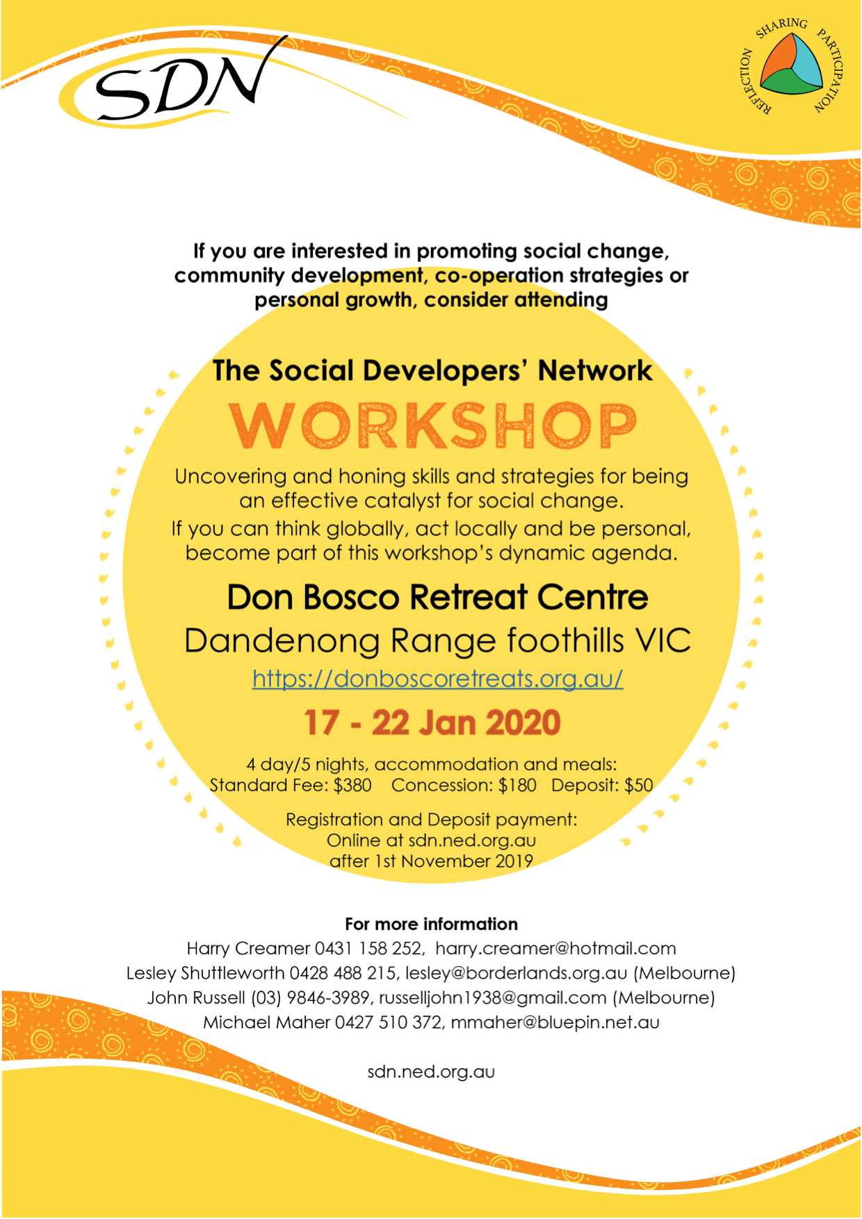 Flyer for SDN Workshop January 2020