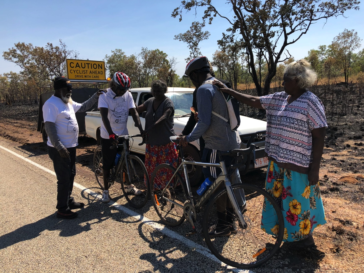 Milingimbi Womens' Group bicycle ride from Darwin to Alice Springs